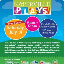 Naperville Plays: Free Event at Knoch Knolls Nature Center July 14